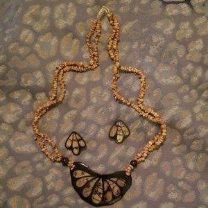 "24"" Hawaiian Necklace and Earrings"